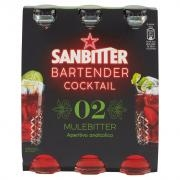 SANBITTÈR  Bartender Cocktail Mulebitter, Aperitivo Analcolico 14cl x 3