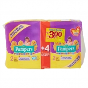 Pampers Progressi 2 Mini 3-6kg 56 Pannolini + 4 Gratis*