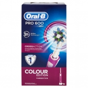 Oral-b Power Spazzolino Elettrico Pro 600 Cross Action Rosa