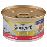 Gourmet Purina  Gold Gatto Mousse con Manzo Lattina