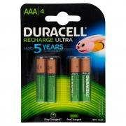 Duracell Recharge Ultra Aaa 850 Mah 4 Pz